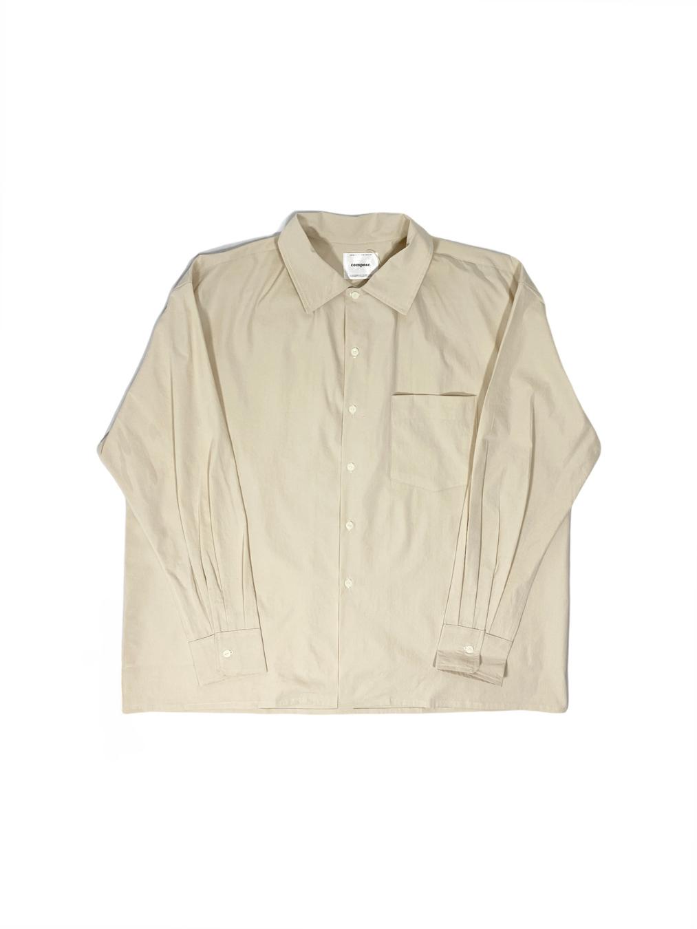 Button-Down Overshirt (Beige)