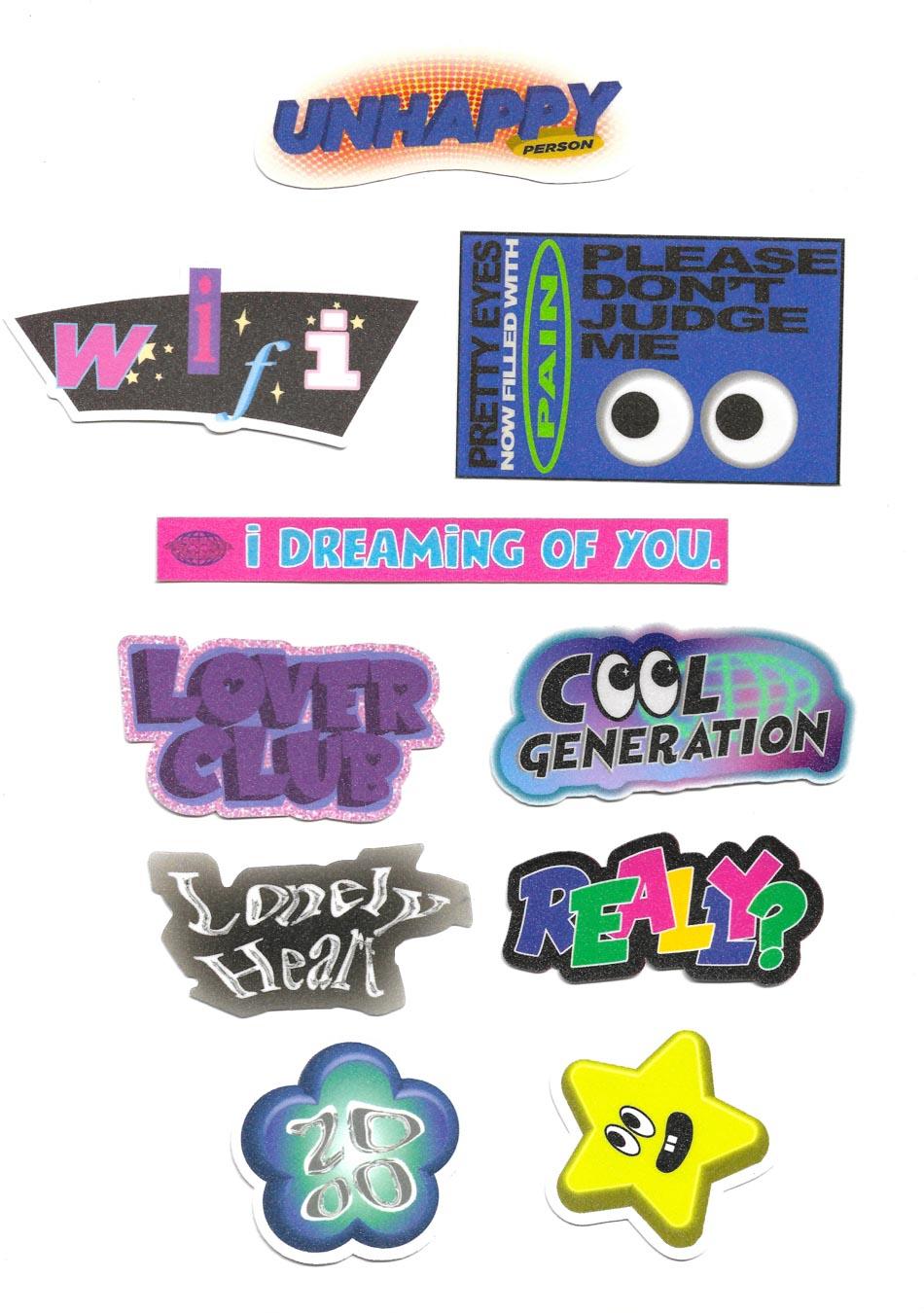 Super Glitter Sticker