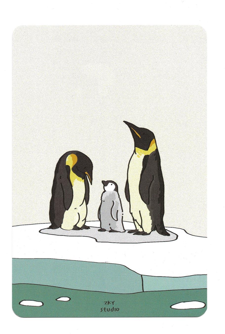Postcard Penguin