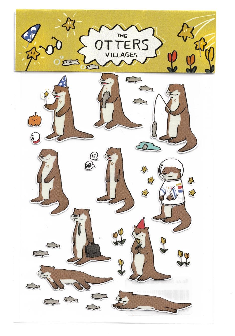 Sticker Otters Village