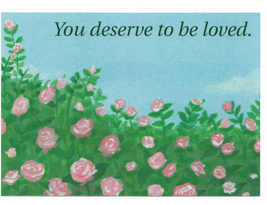 Postcard - You Deserve To Be Loved.