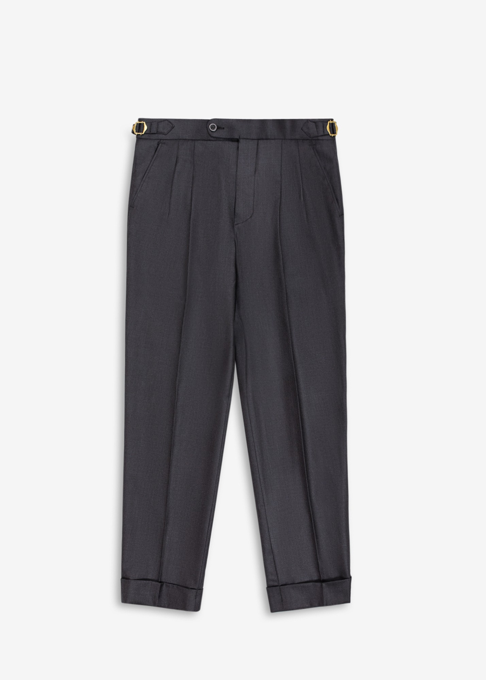 Rags And Lace Wool Pants (Coal)