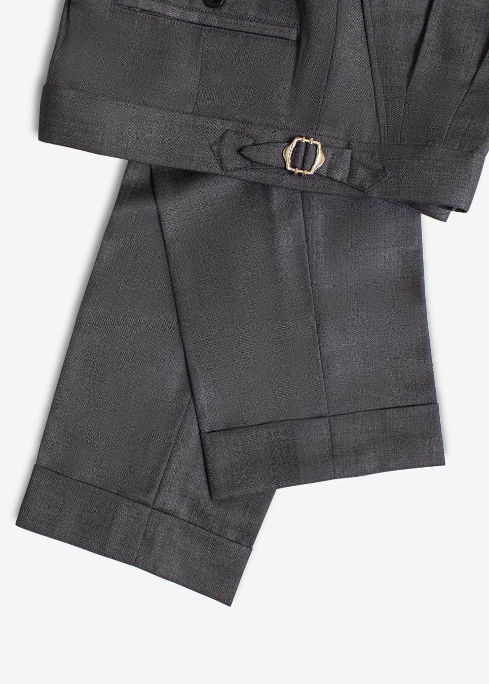 Rags And Lace Wool Pants (Graphite)