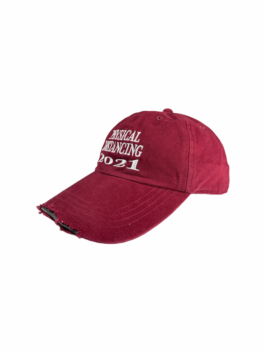 Ripped Cap Physical Distancing (Maroon)