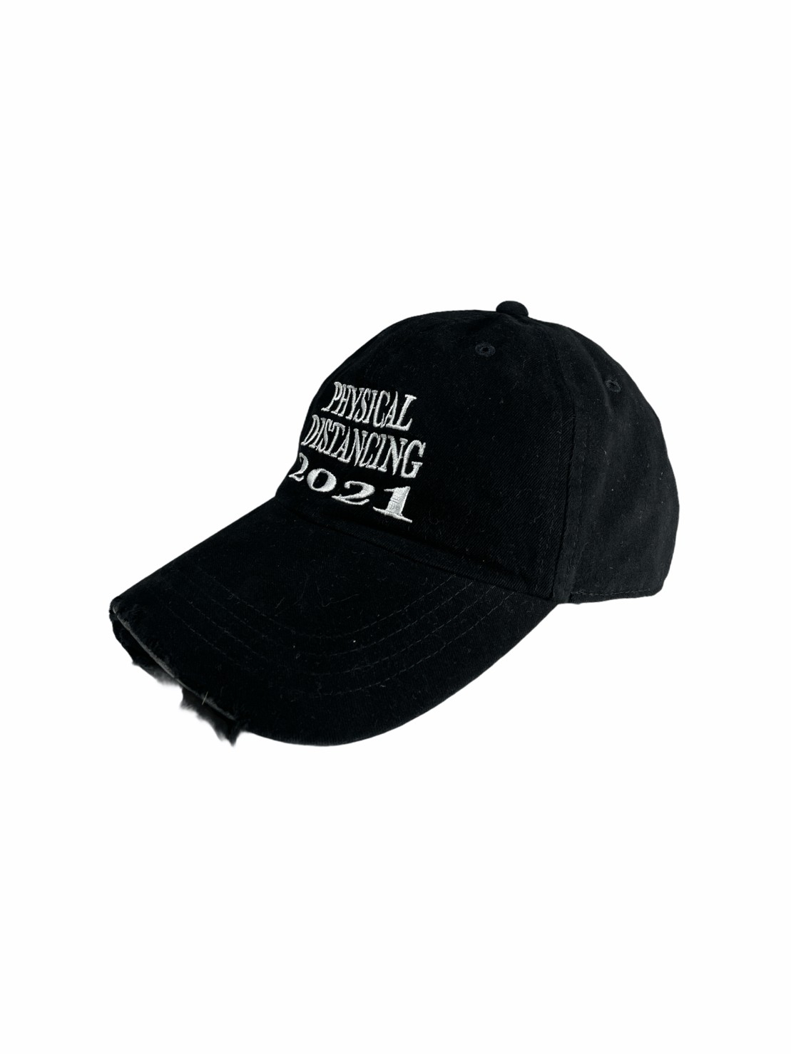 Ripped Cap Physical Distancing (Black)