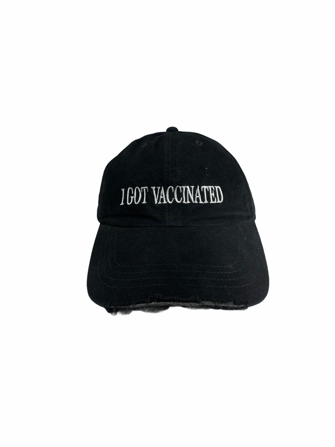 Ripped Cap I Got Vaccinated (Black)
