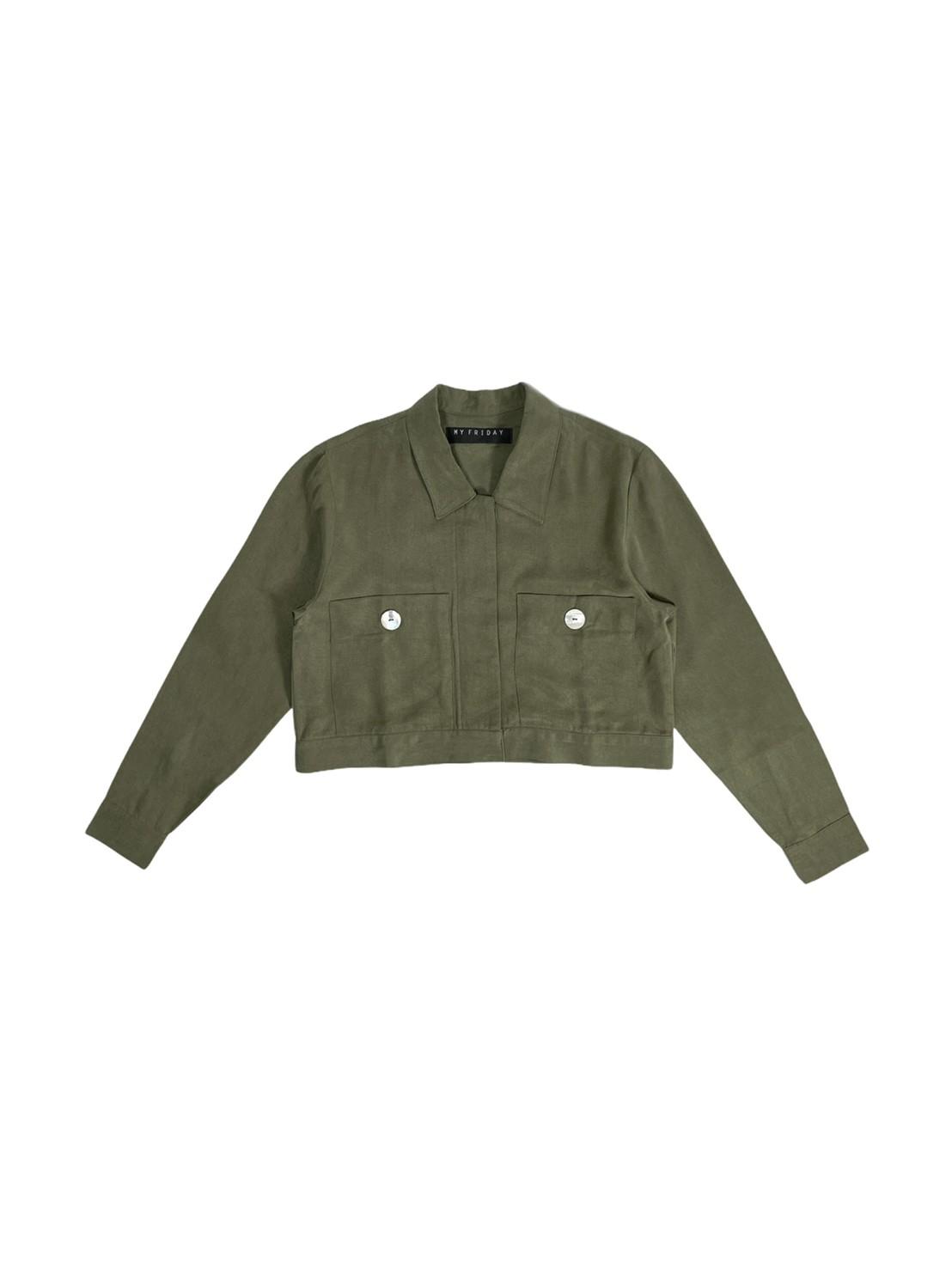 Cropped Jacket (Olive)