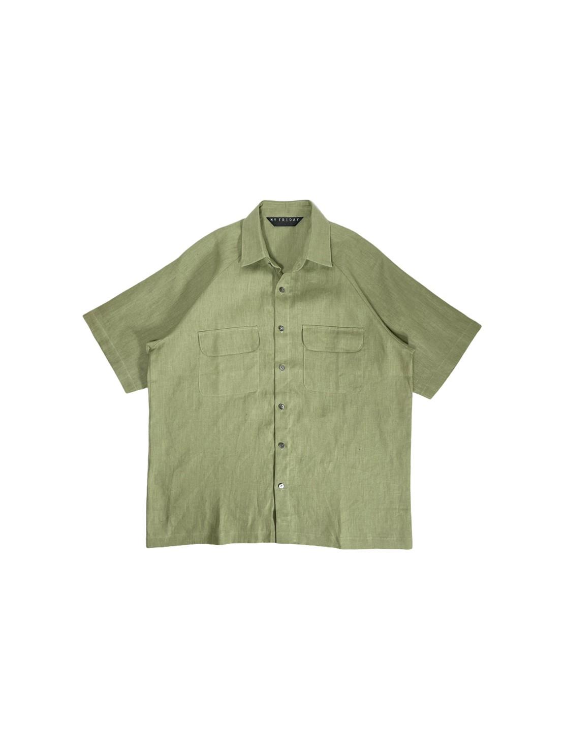 Raglan Sleeve Shirt With Pockets