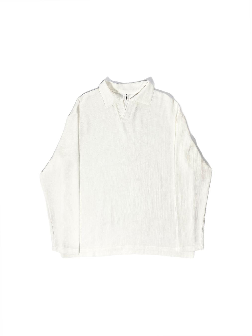 Soften Net Collar Shirt (White)