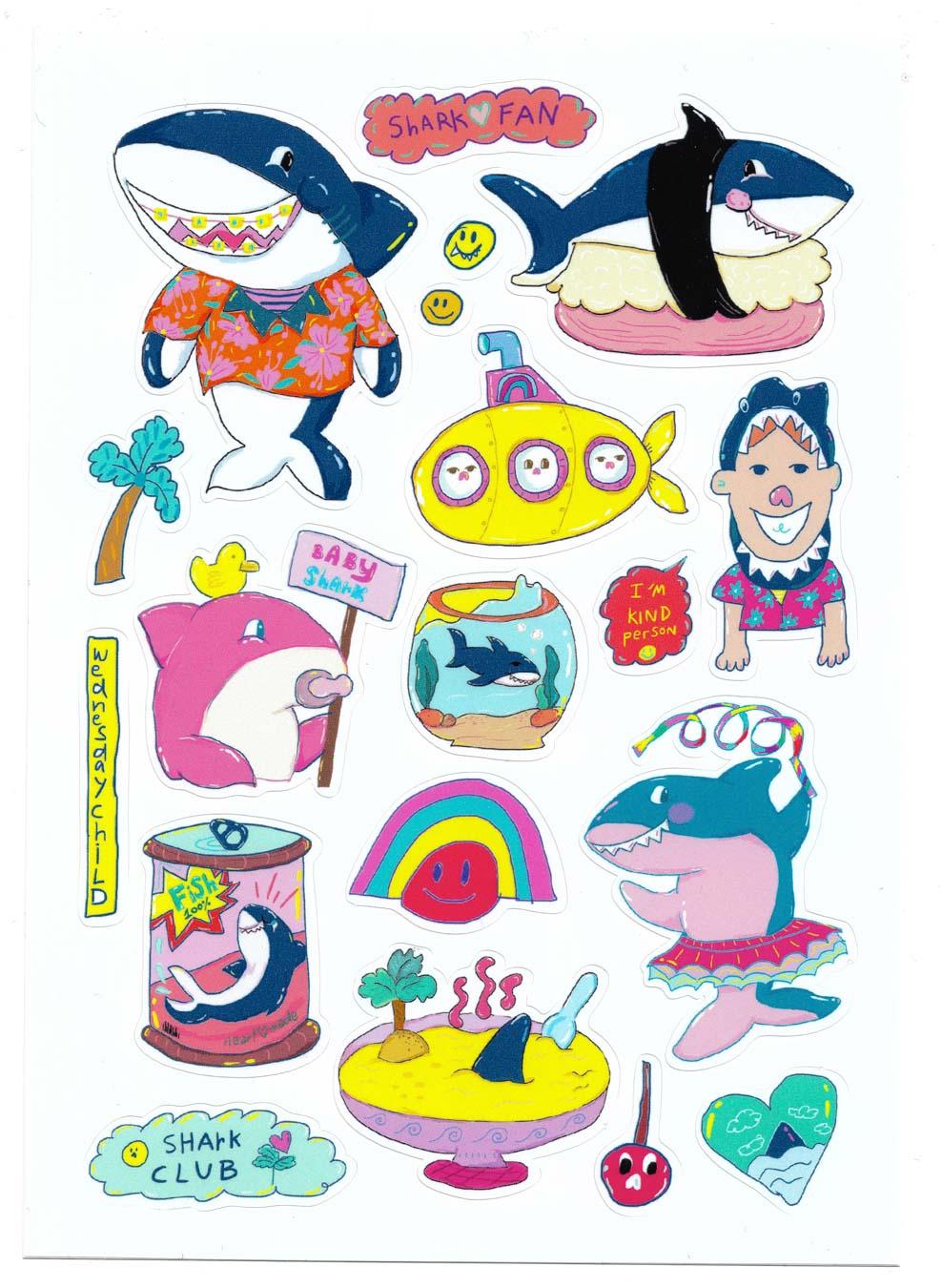 Sharkclub Sticker