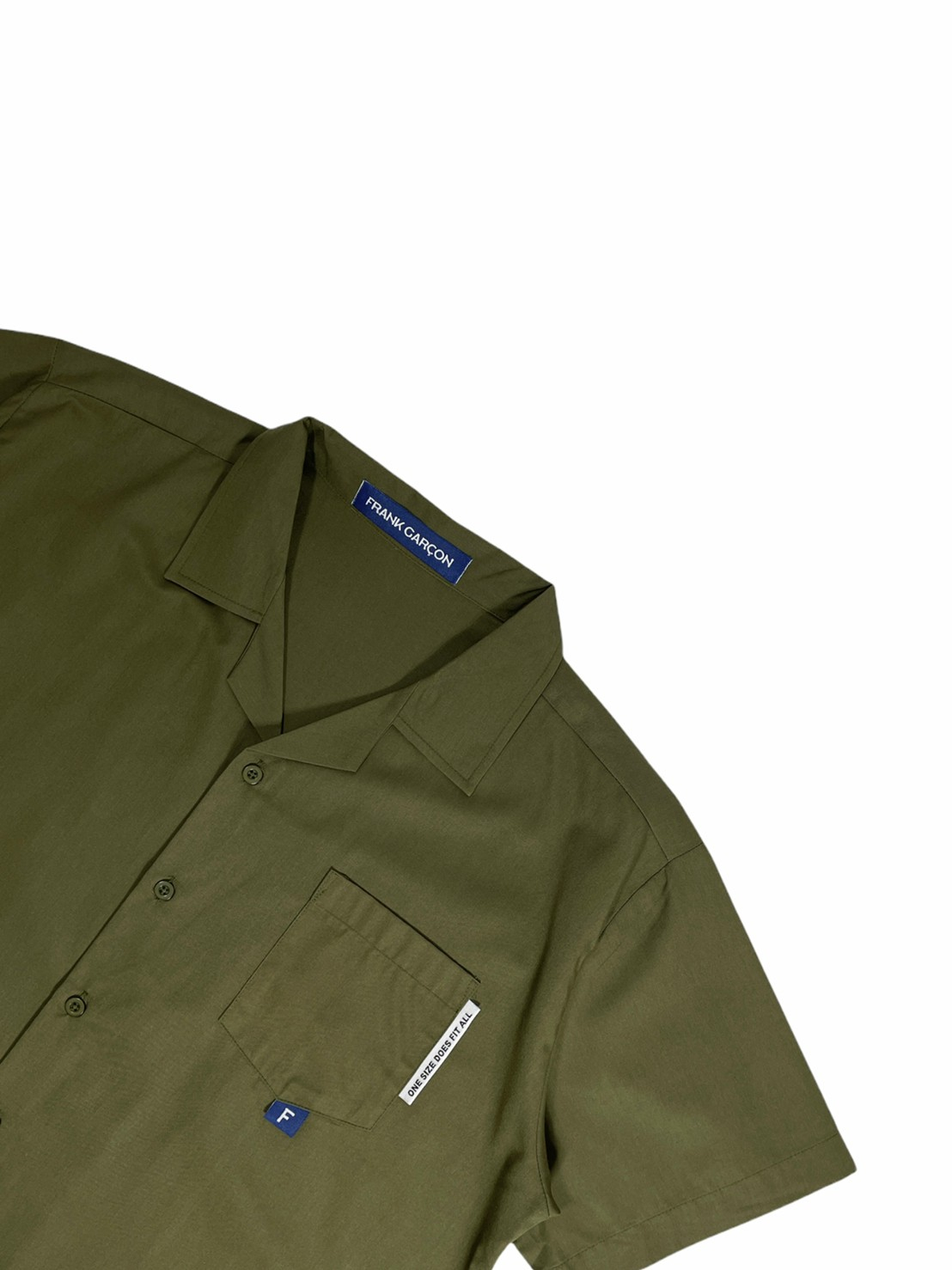 FRANK ! Camp Collar Shirt (Army Green)