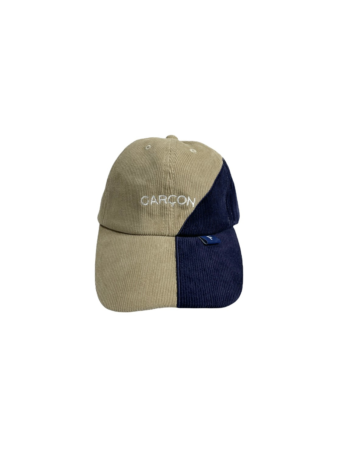FRANK! Garcon 2-Tone Corduroy Cap (Sand/ FRANK Blue)