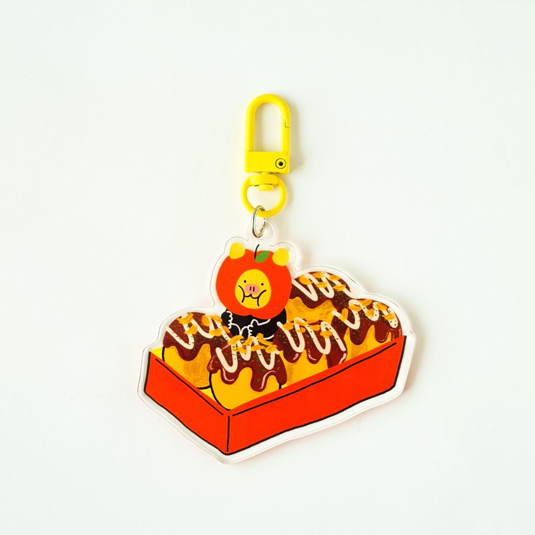 Takoyakimoo Keychain