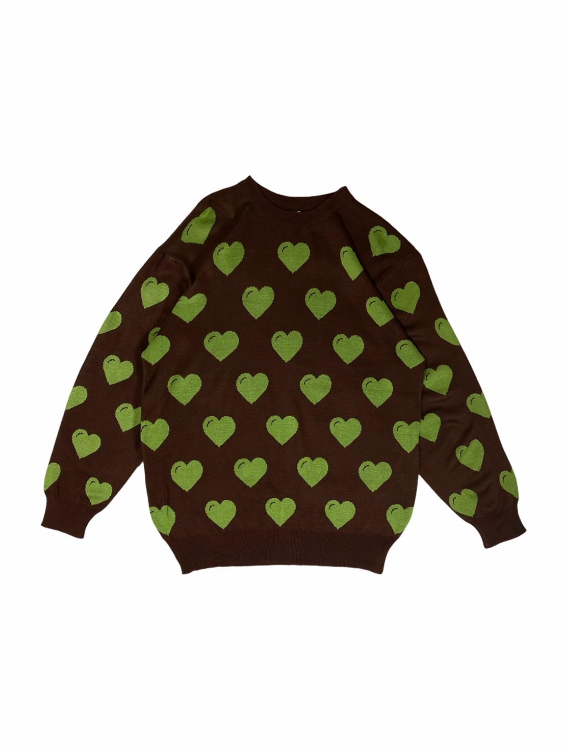 LL Green Heart Sweater