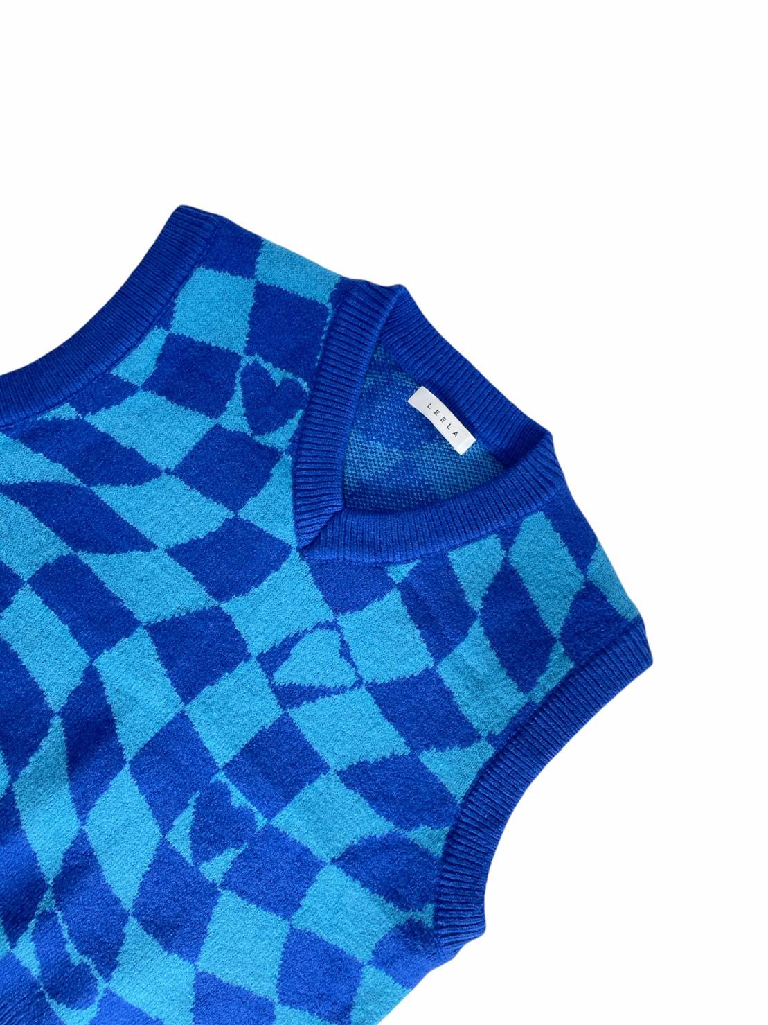 Checker Heart Blue