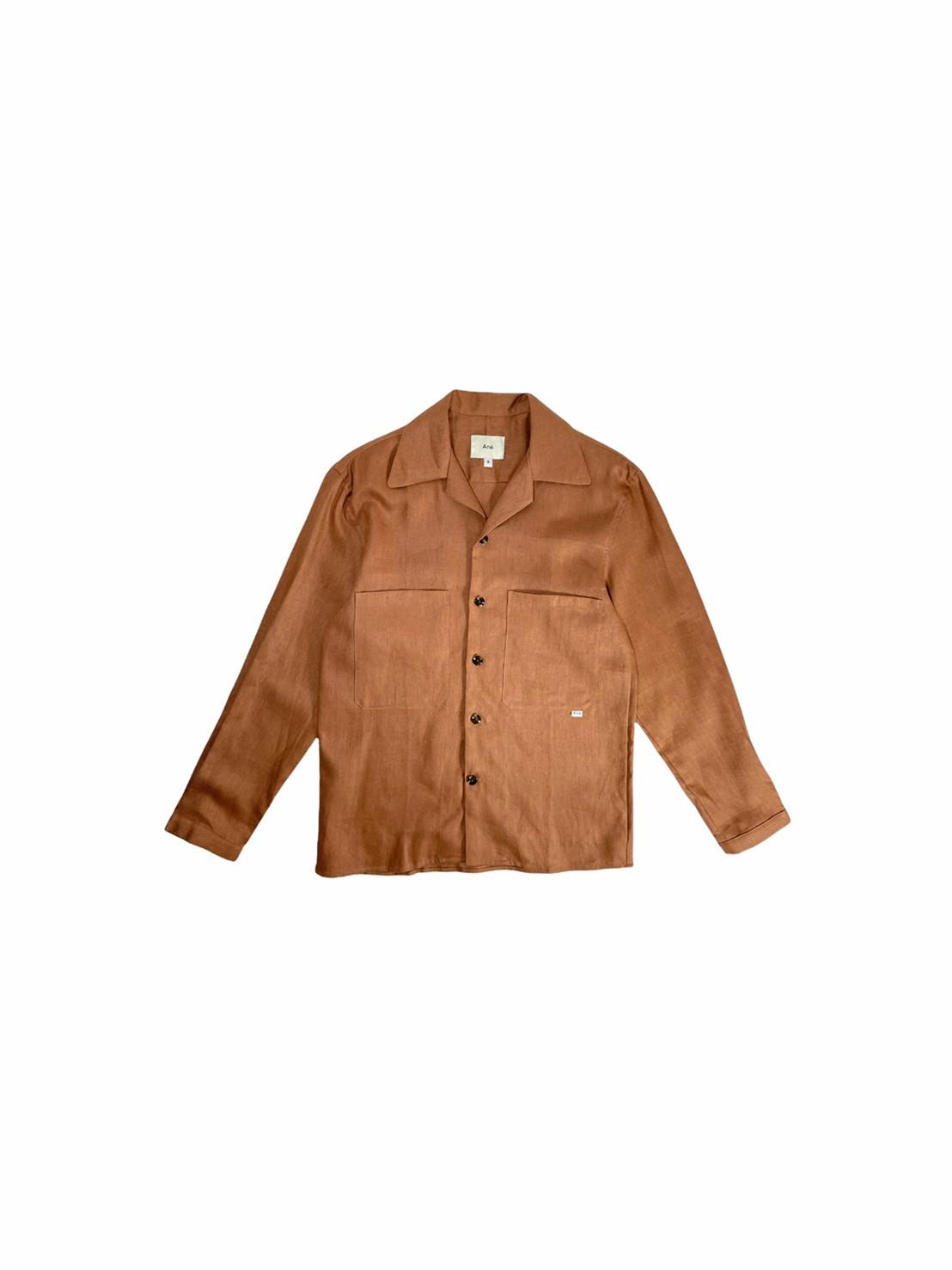 Ane Camp collar shirt (Terracotta linen)