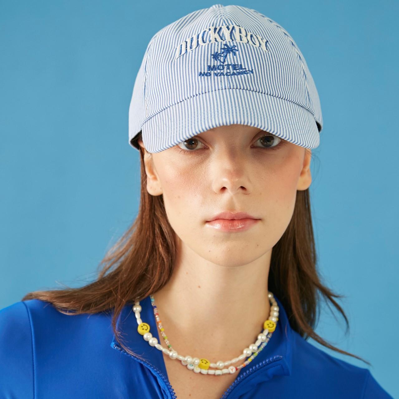 STRIPE CAP MOTEL NO VACANCY (Blue)