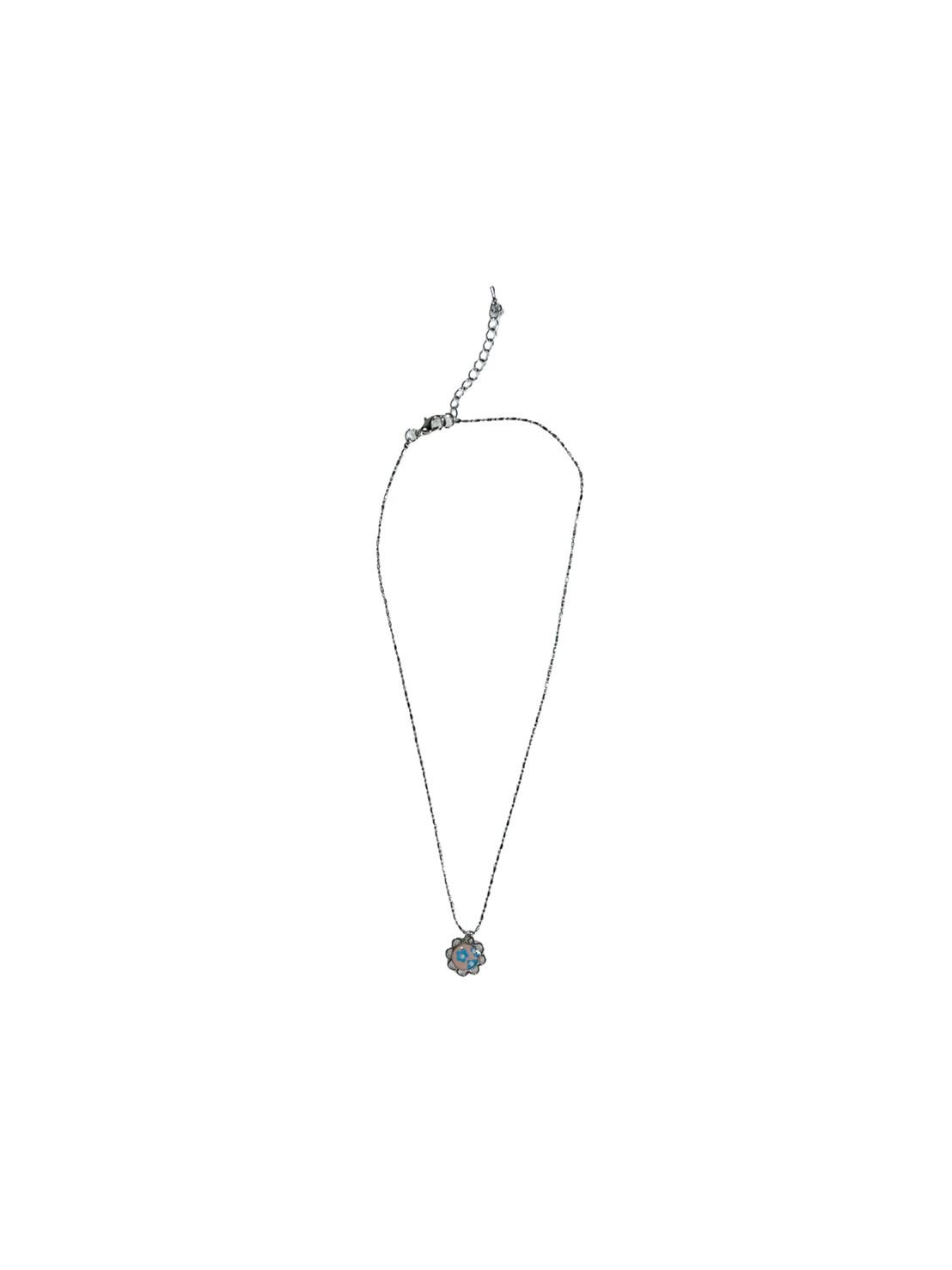 Flower necklace (Pink/Blue)