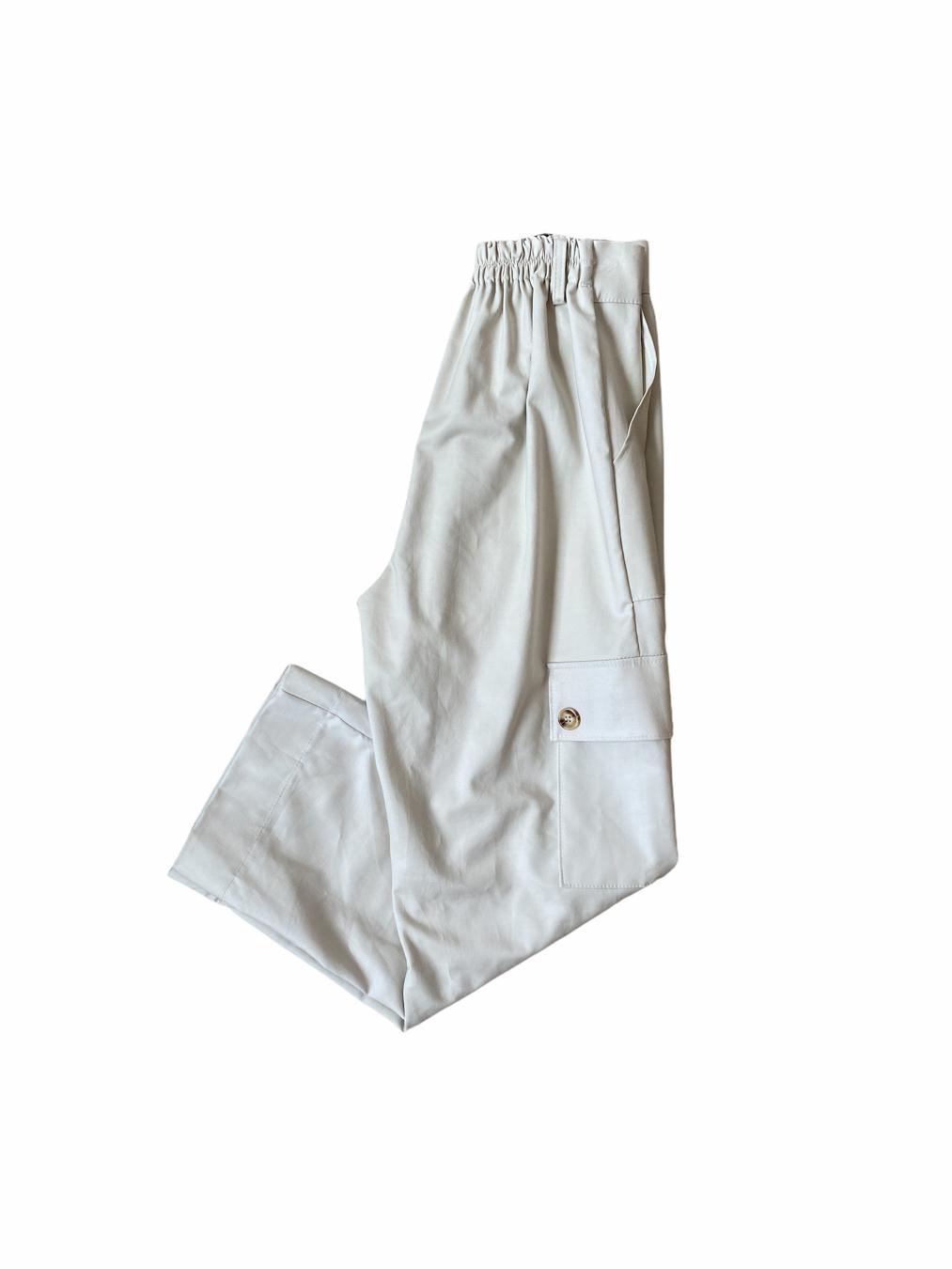 Cham Him Cargo Pants (Cream)