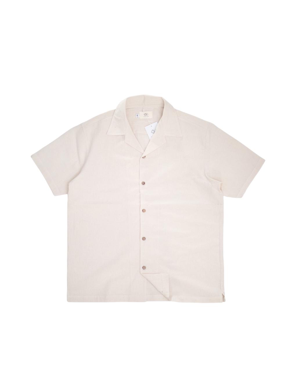 Open Collar Shirt (Beige)