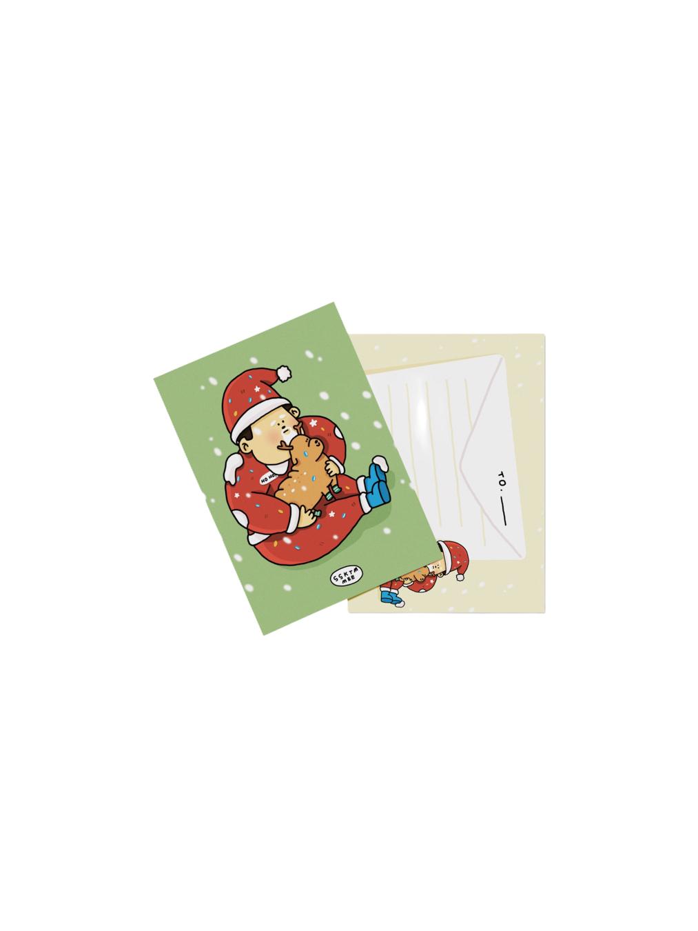 Postcard - Fat Santa