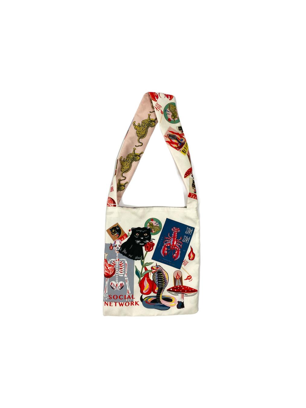 Mini Flamingo Bag No Feather (Cream)