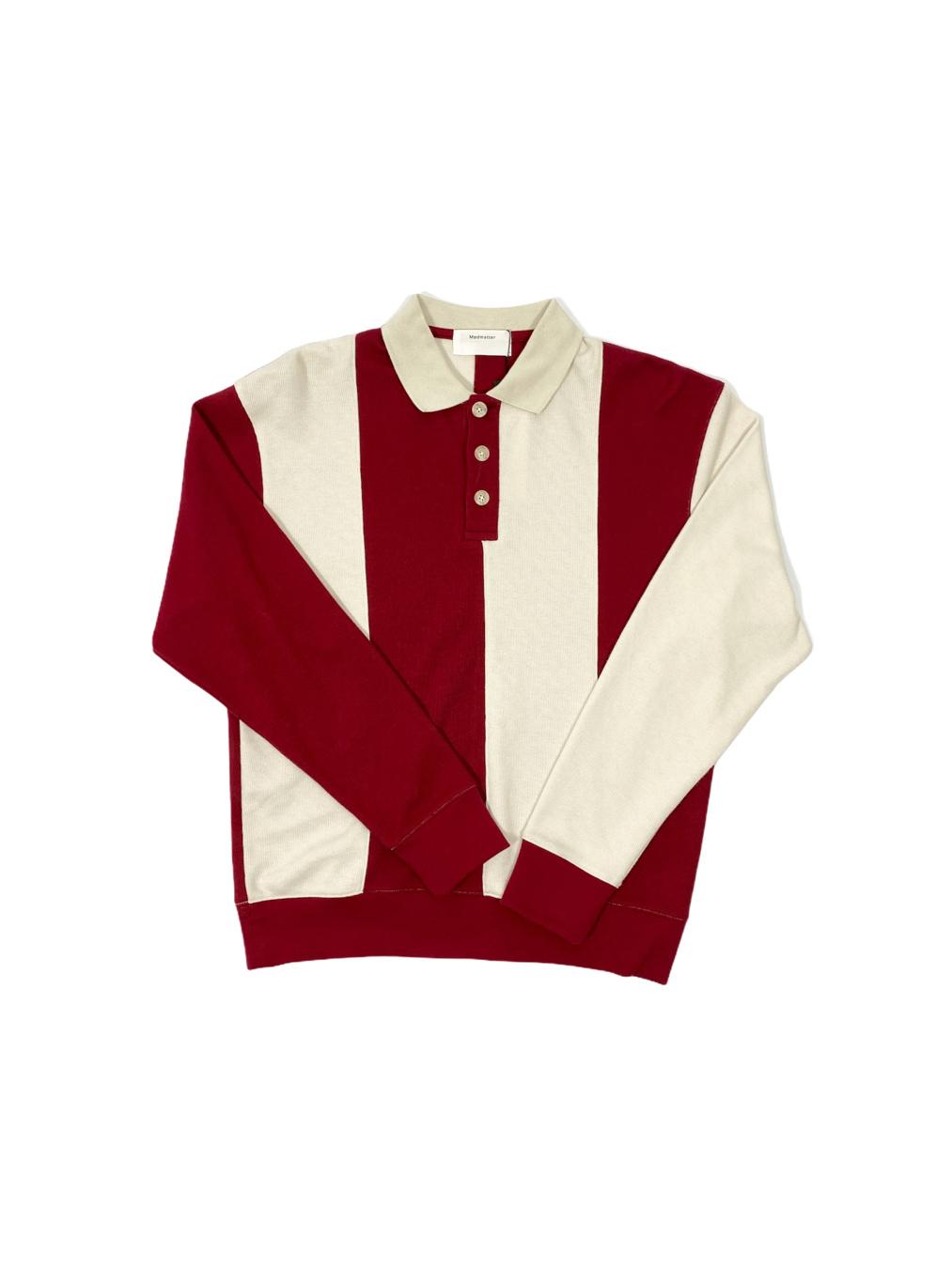 Rugby Sweatshirt  (Red Cream)