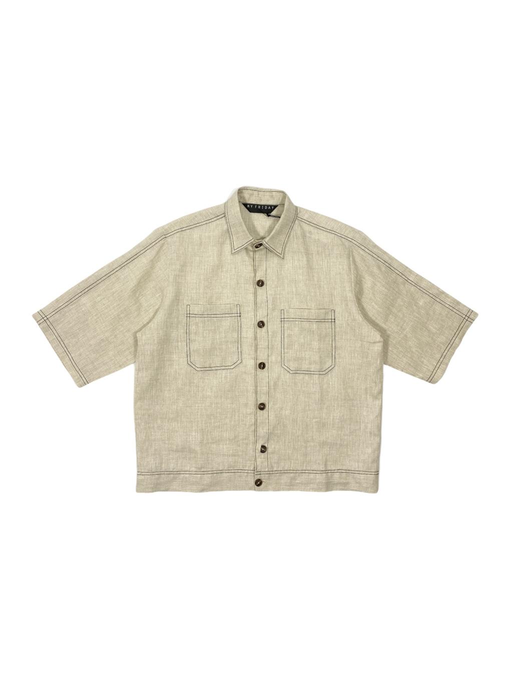 Short Sleeve Jacket (Beige)