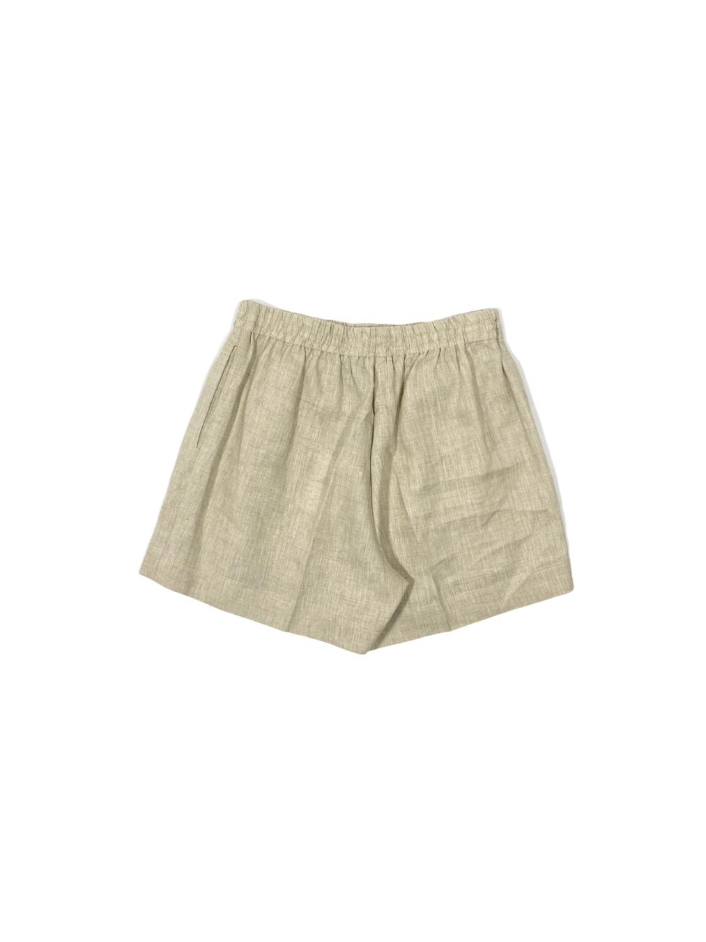 Linen Relaxed Shorts (Beige)