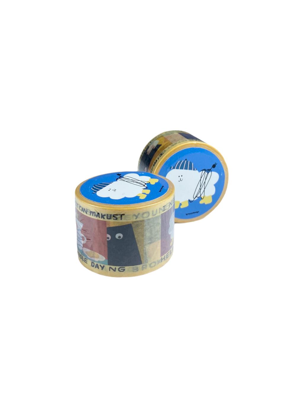 Masking Tape - White Dog