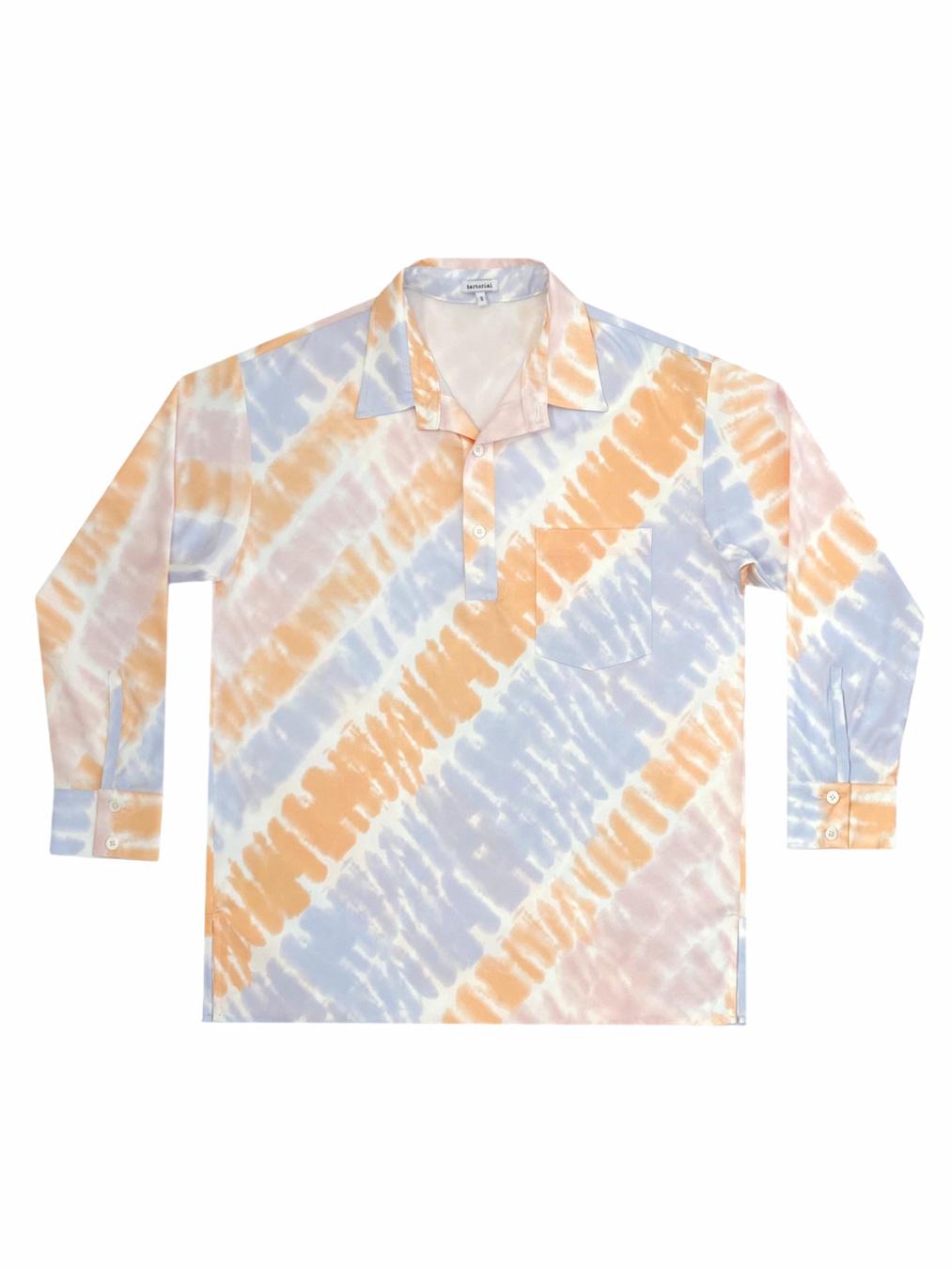 Pyjamas Tie - Dye Oversized Shirt (Orange)