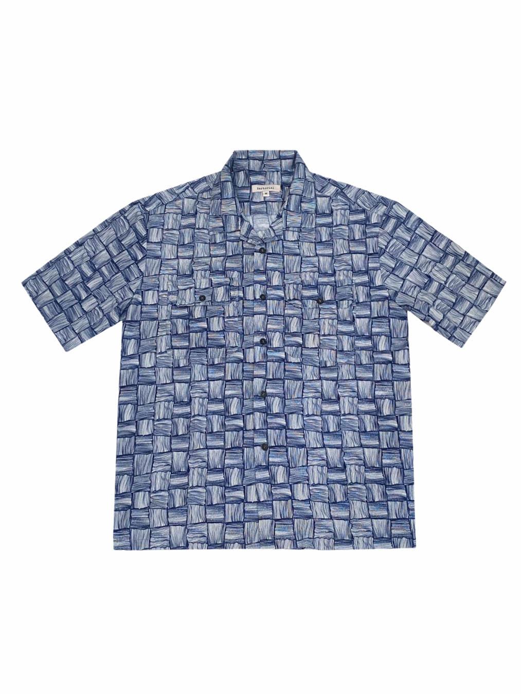 Summer Weave Print Shirt (Blue)