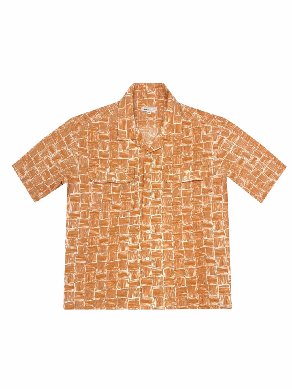 Summer Weave Print Shirt (Orange)