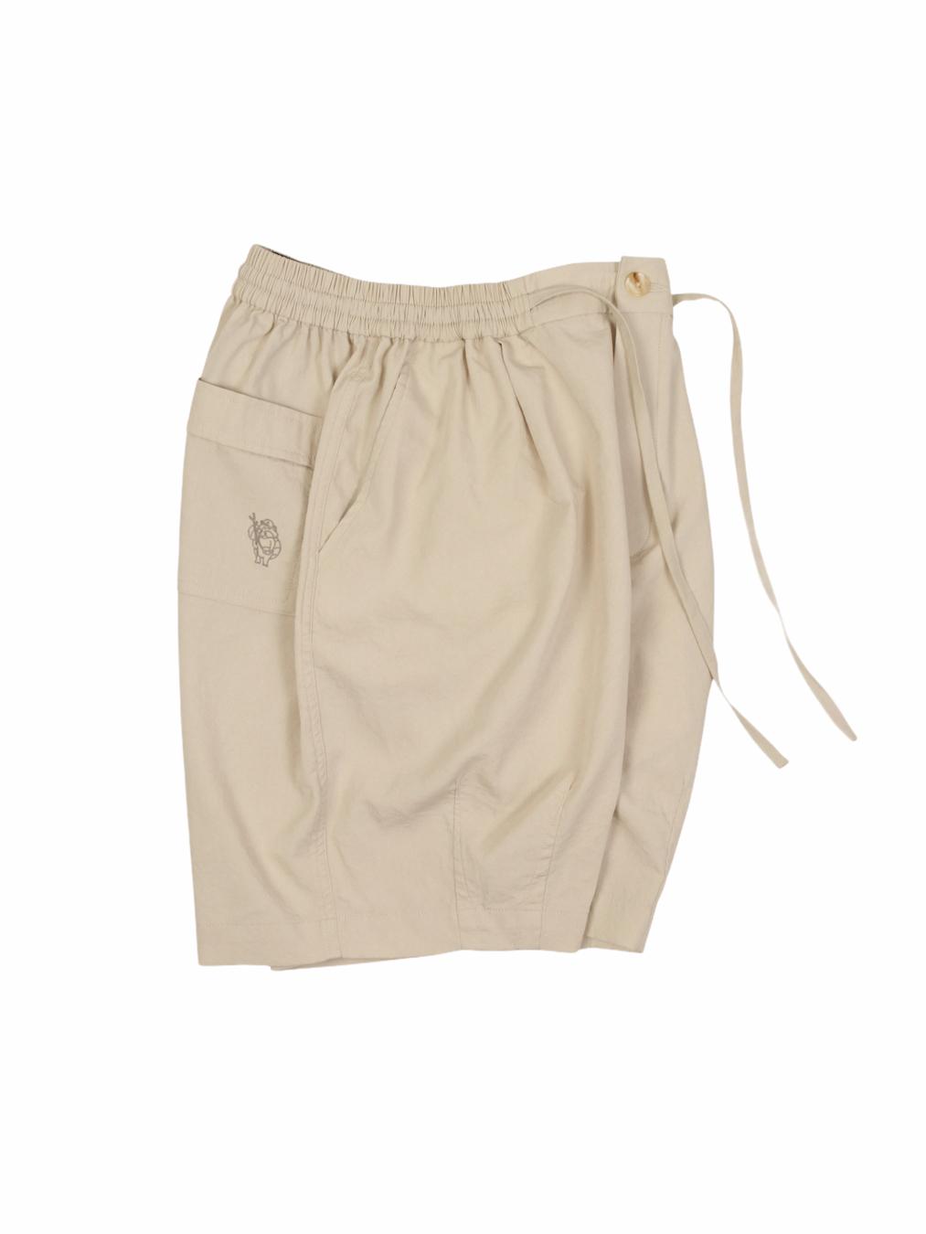Rayon Balloon Shorts (Beige)