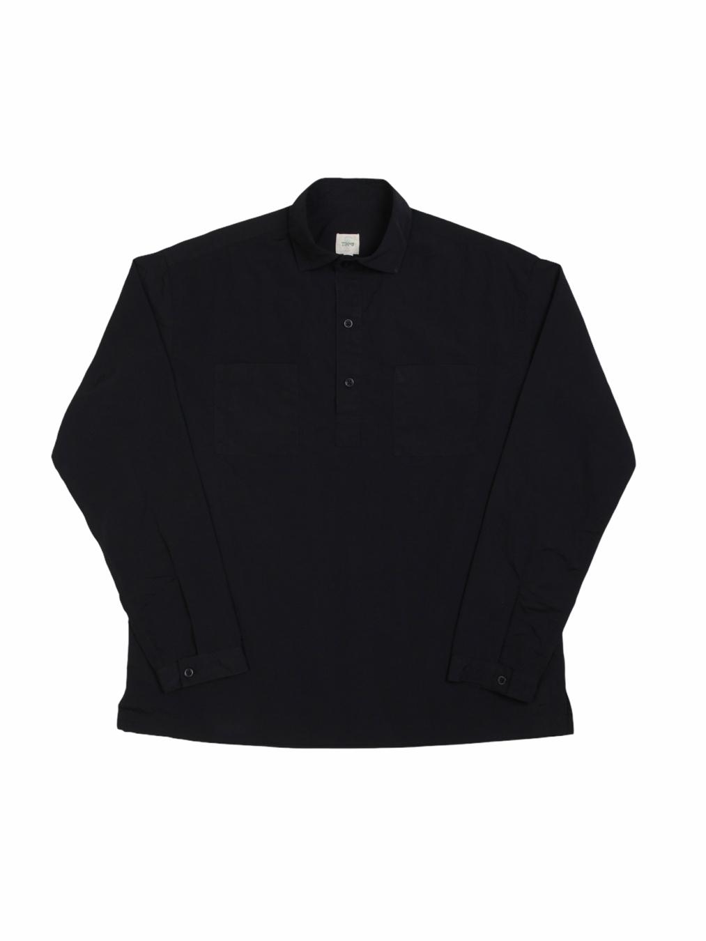Nylon Pullover Shirts (Black)
