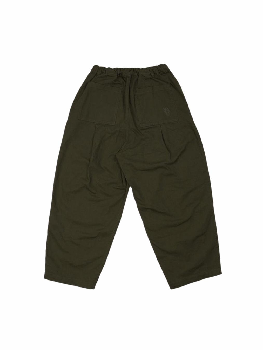Twill Balloon Pants (Olive)