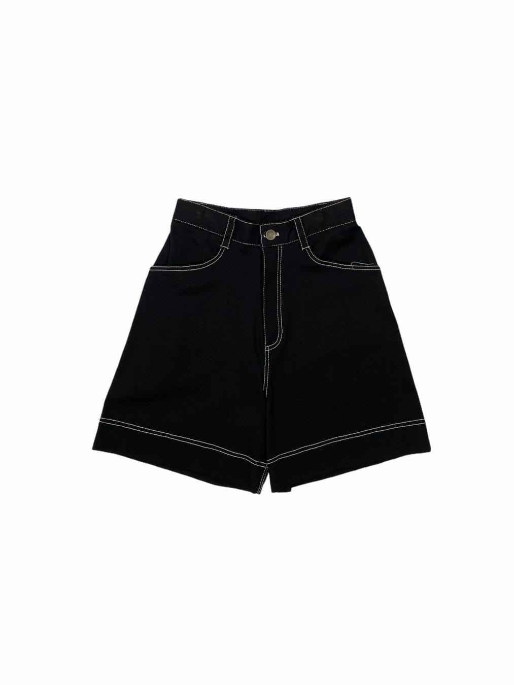 Middle Short Pants (Black)