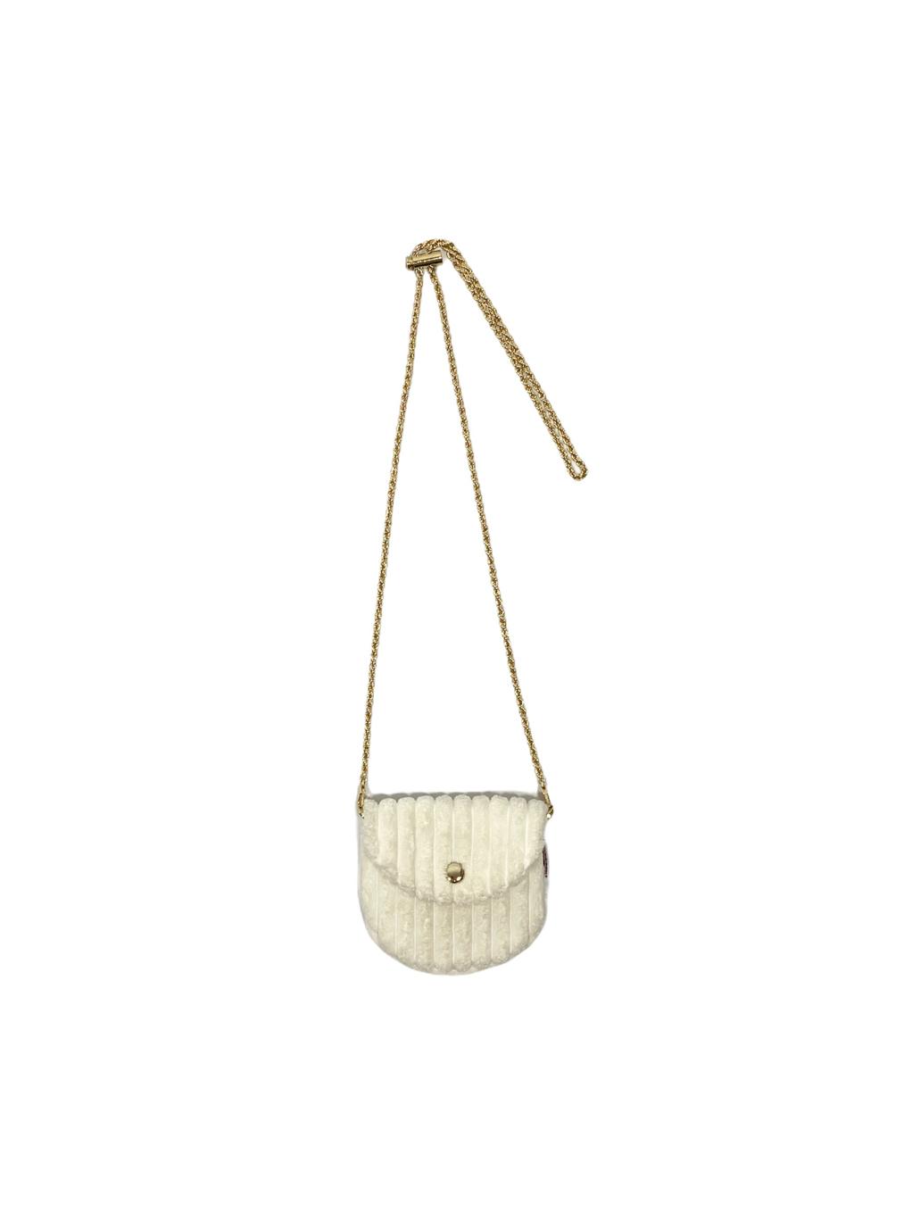 Mini Corduroy Bag (White)