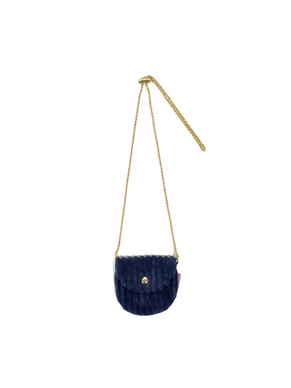 Mini Corduroy Bag (Navy)