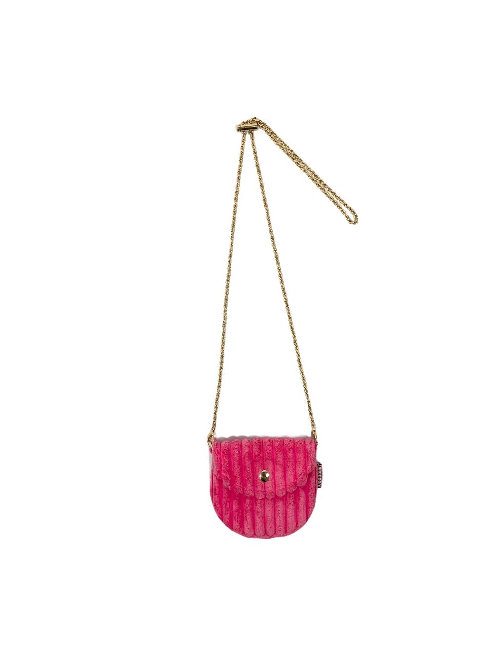 Mini Corduroy Bag (Pink)