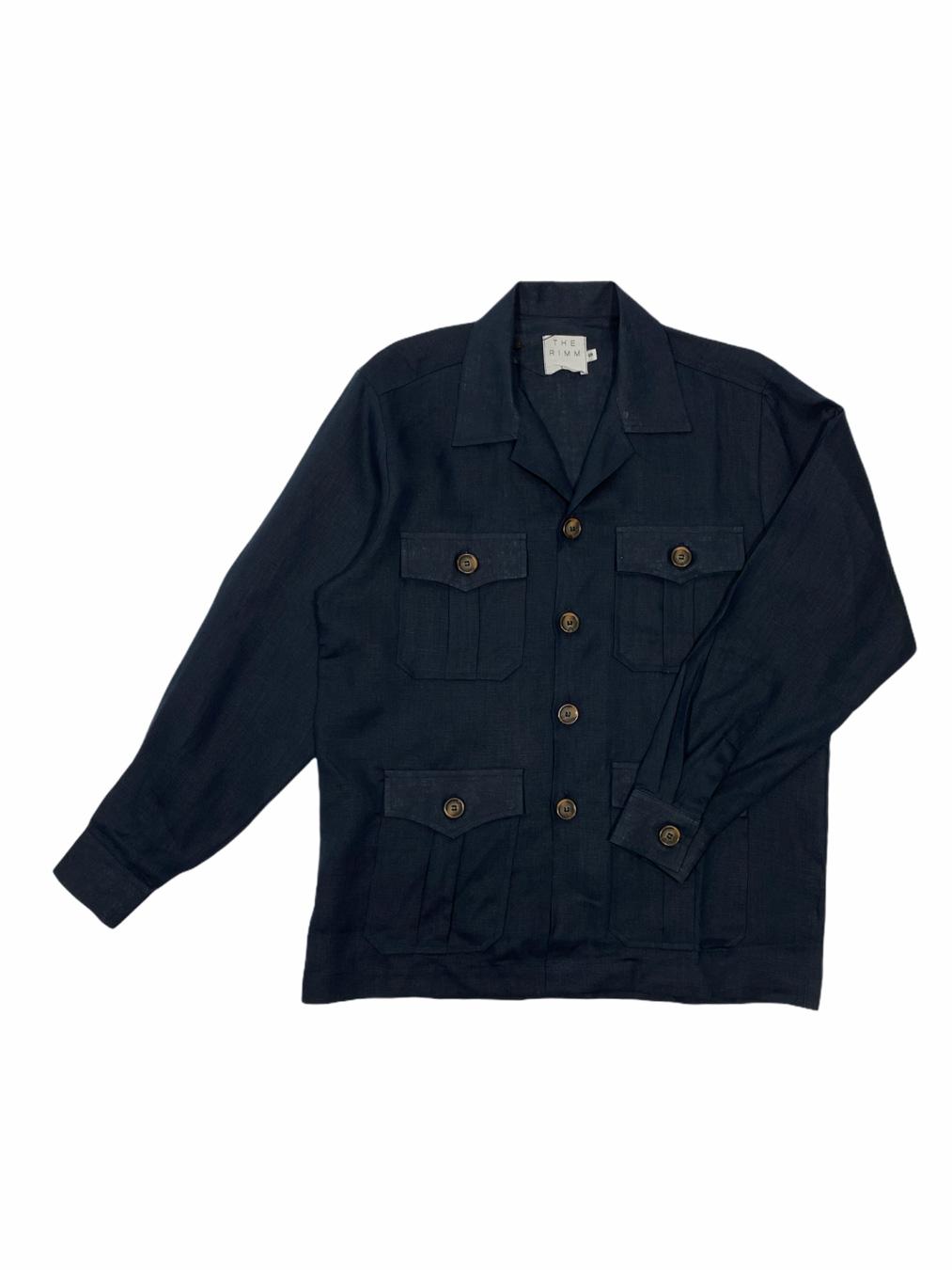Linen Field Jackets (Navy)