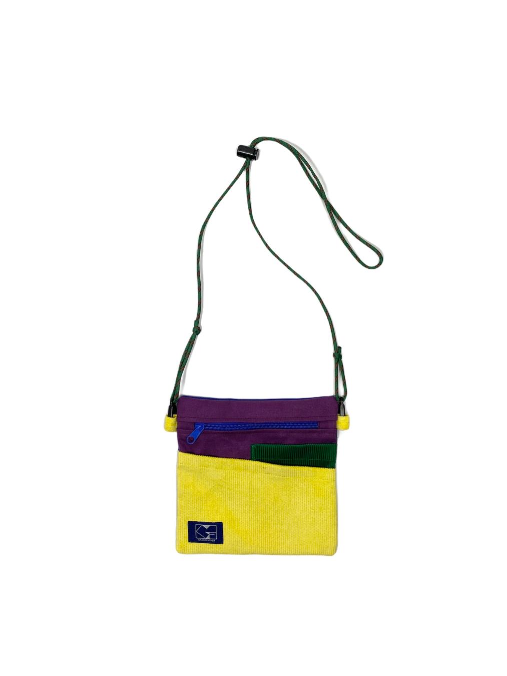 Corduroy x Canvas Sacoche (Multicolor 1)