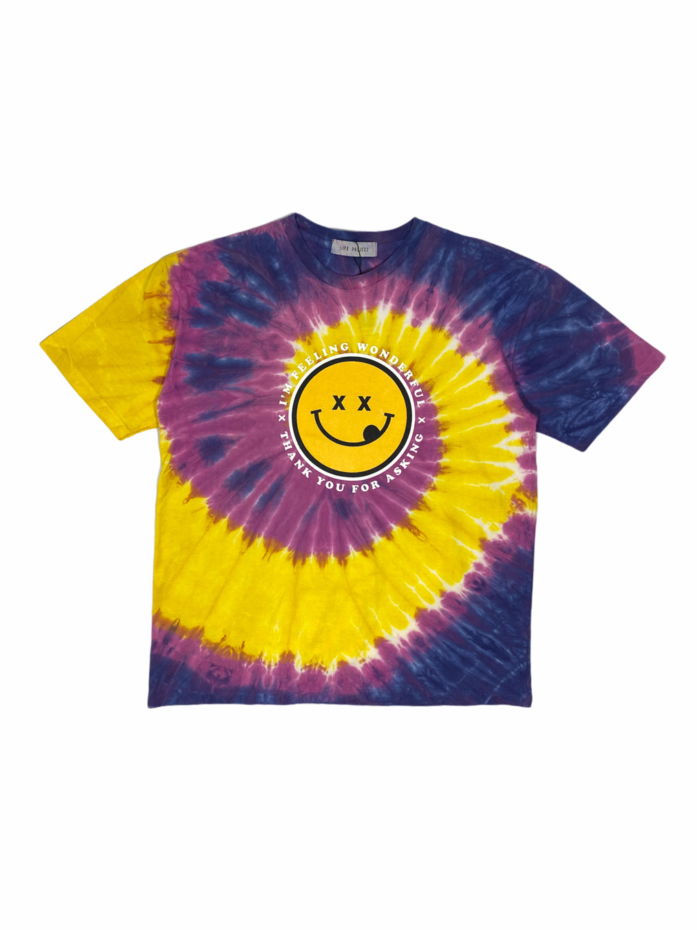 I'm Feeling Wonderful T-Shirt (Muliticolor Tie-Dye)
