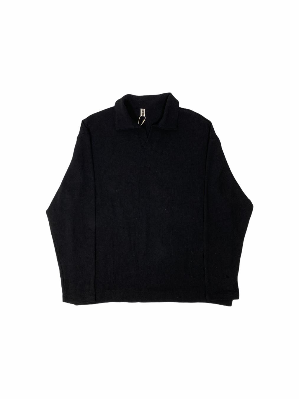 Soften Net Collar Shirt (Black)