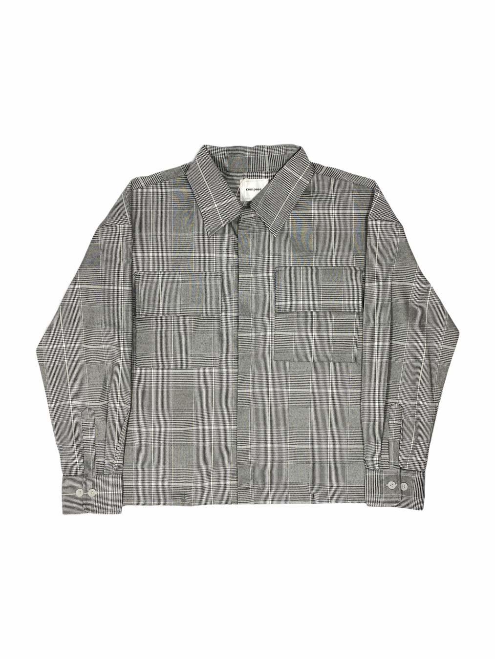 L/S Plaid String Jacket