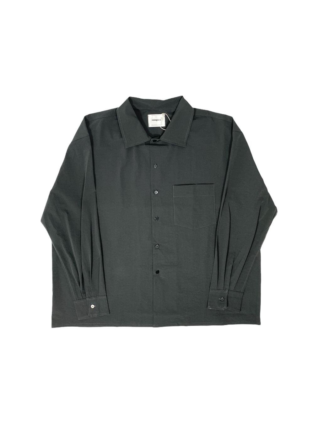 Button-Down Overshirt (Burnt Black)