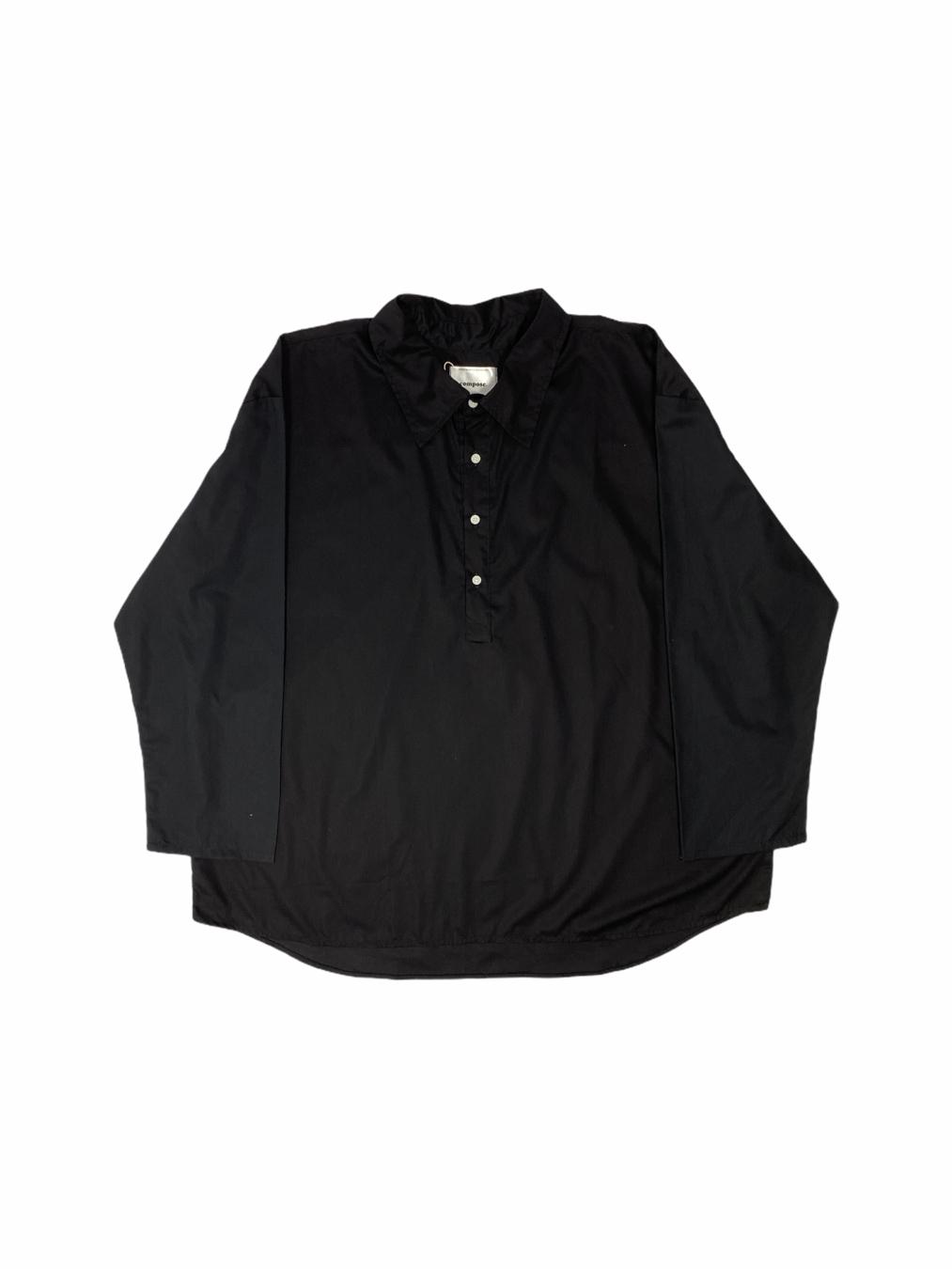 Maxi Wide Shirt (Black)