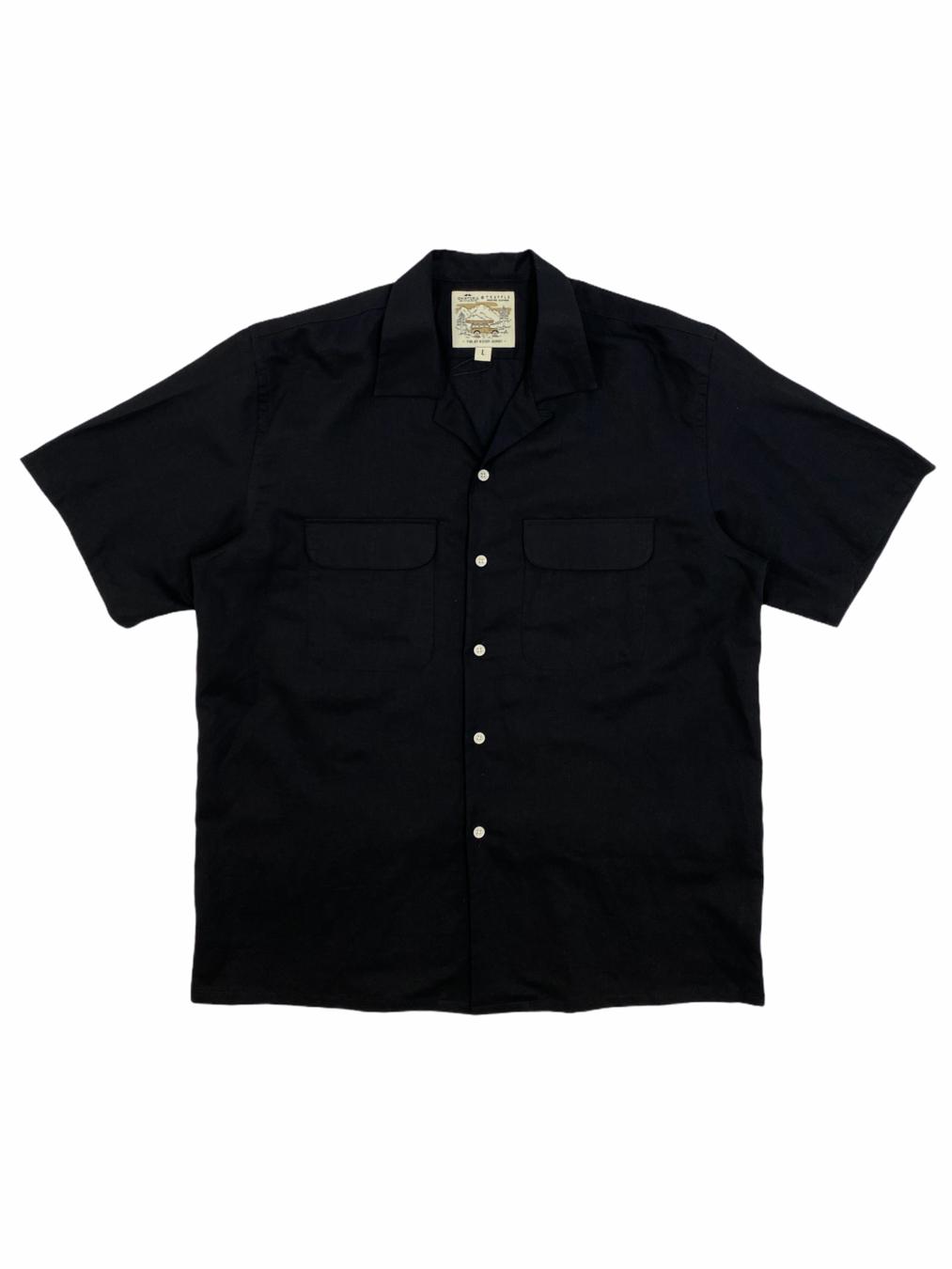 Short Linen Shirt (Black)
