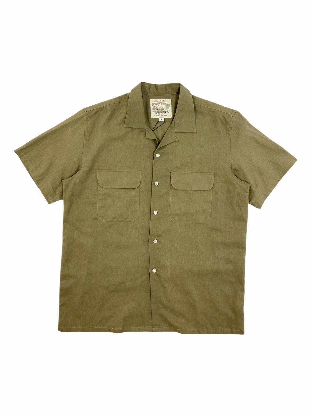 Short Linen Shirt (Khaki)