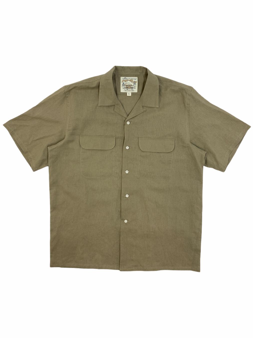 Short Linen Shirt (Green)